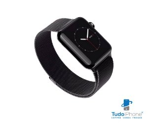 Pulseira Apple Watch - Estilo Milanês 42/44mm - Preto