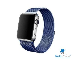 Pulseira Apple Watch - Estilo Milanês 42/44mm - Azul