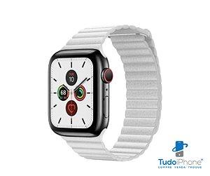 Pulseira Apple Watch - Loop Couro  42/44mm - Branca