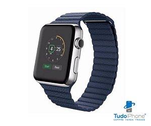 Pulseira Apple Watch - Loop Couro  42/44mm - Azul