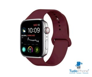 Pulseira Apple Watch - Silicone Tradicional 42/44mm - Marsala