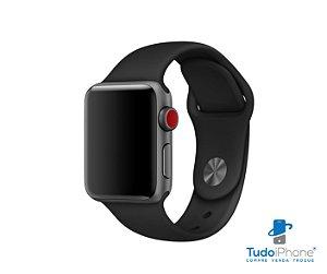 Pulseira Apple Watch - Silicone Tradicional 42/44mm - Preta