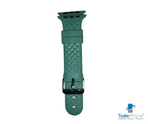 Pulseira Apple Watch - Silicone Tradicional com relevo 42/44mm - Verde claro