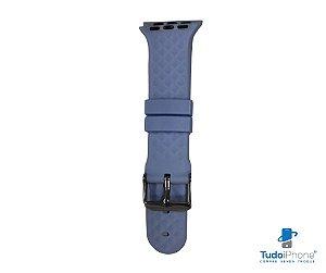 Pulseira Apple Watch - Silicone Tradicional com relevo 38/40mm - Azul claro