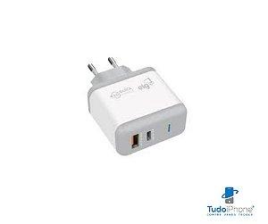 Fonte Universal de Carga Rápida - USB e Type C - WC2S-PDQC - ELG