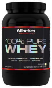 100% PURE WHEY (900G) BAUNILHA - ATLHETICA NUTRITION