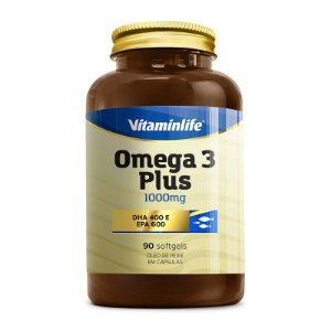 Ômega 3 Plus 1000mg - Vitaminlife - 90 cps