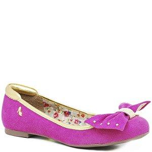 Sapatilha Camurça com Laço - 11009 - Pink