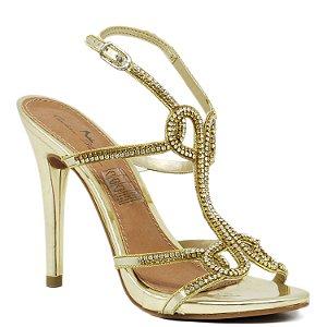 Sandália de Festa - 816024 - Dourada