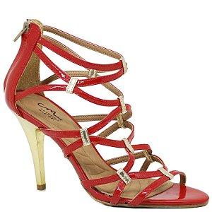 Sandália Gladiadora - 80000-01 - Vermelho