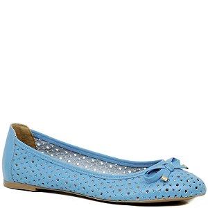 Sapatilha Básica com Recortes e Laço - Azul Piscina - 3014