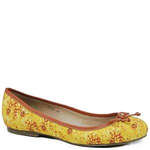 Sapatilha Charmosa em Tecido - Amarelo - 8139