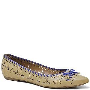 Sapatilha de Bico fino - Areia e Azul Royal - 43904