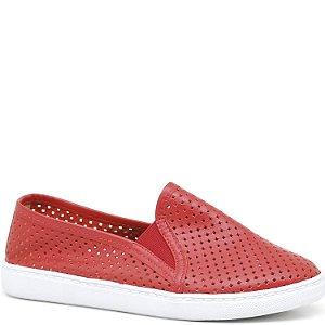 Tênis Slip On - Vermelho - 501