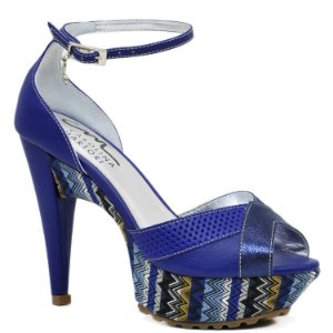 Sandália Salto e Meia Pata - 3609 - Azul