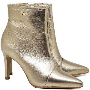 Bota Ankle Boot Prata Velho - 65047