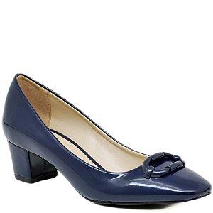 Scarpin Bico Redondo Salto Grosso - 55189 - Azul
