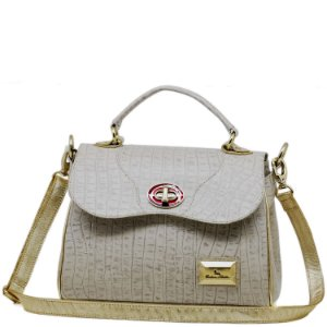 Bolsa Estruturada - 10258 - Croco Off White