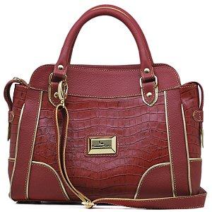 Bolsa Estruturada - 10355 - Croco Vermelha