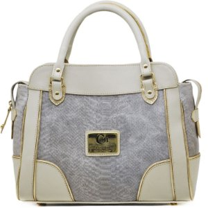 Bolsa Estuturada - 10355 - Cobra Cinza / Off White