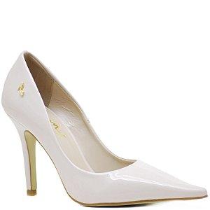 Scarpin Bico Fino Fashion - Salto Alto - Verniz Creme - 71116