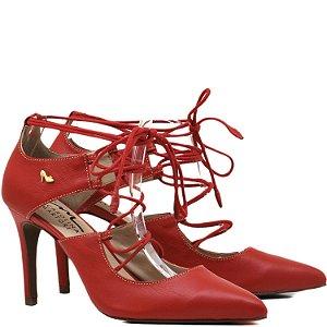 Scarpin Clássico de amarrar - 3351 - Vermelho
