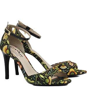 Sandália Salto Alto - 6198 - Tecido Floral