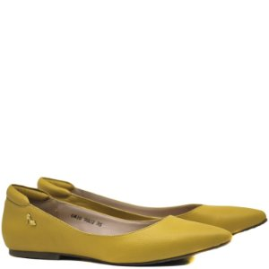 Sapatilha Charmosa bico fino - Amarelo - 9802