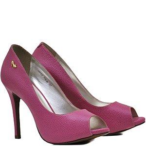 Peep Toe Salto Alto Fino - 9406 - Pink