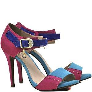 Sandália Salto Alto - 9437 - Nob. Azul / Pink