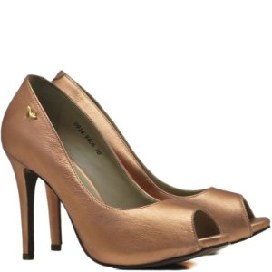 Peep Toe Salto Alto Fino - 9406 - Love Rose