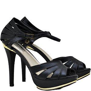 Sandália Salto Fino - 9758 - Preto