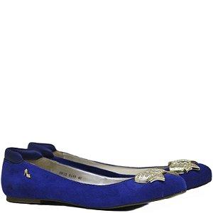Sapatilha Tecido Suede Azul - 8149