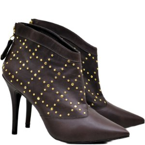 Bota Ankle Boot Café - 7701