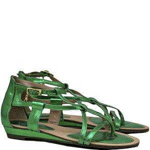 Rasteira tiras finas - Verde Bandeira - 5701