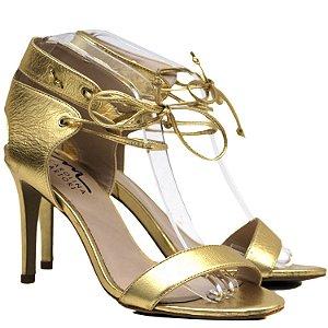 Sandália de Tira e Amarração - 6189 - Ouro