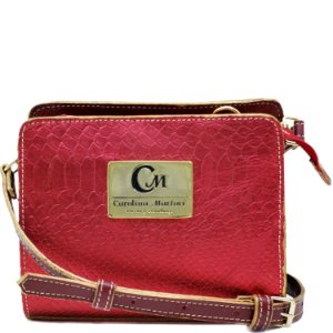 Bolsa Pequena Transversal - Brilho Vermelho / Vemelho - 10363