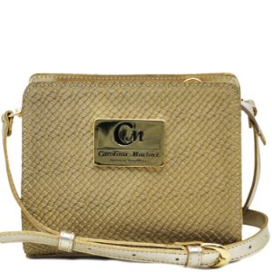 Bolsa Pequena Transversal - Ouro / Ouro - 10363