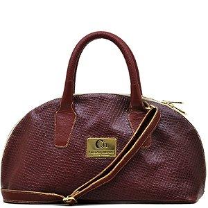 Bolsa Estruturada - 10360 - Cobra Vermelho / Vermelho