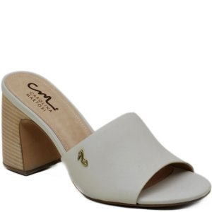 Tamanco Salto Grosso -  Off White - KI 3920