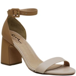 739f2d4f56 Tamanco Salto Grosso - Calf Tan - KI 3920 - Sapatos