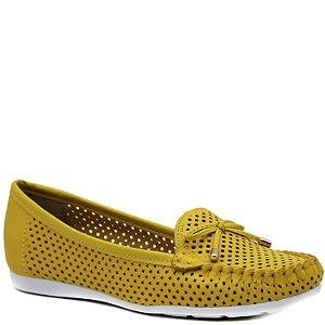 Mocassim Feminino - Napa Amarelo - GIU 21482