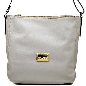 Bolsa Grande Saco - Off White / Camel - FLOR 700