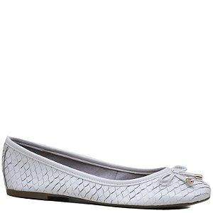 Sapatilha confortável - Escamado em Couro - Cobra Branco - GIU10202