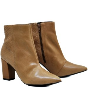 Bota Ankle Boot - Camel / Escamas - GIU 55305