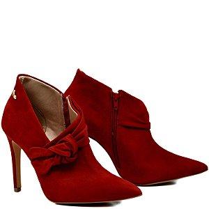 Bota Ankle Boot - Nobuck Carmin - KI 36408