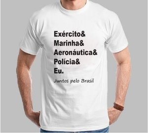 Camiseta Juntos Pelo Brasil (Super Econômica!!!)