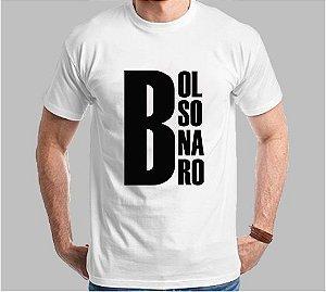 "Camiseta Bolsonaro ""Letra Grande"" (Super Econômica!!!)"