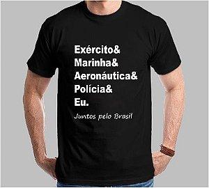 Camiseta Juntos pelo Brasil