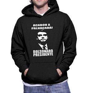Blusa Moletom Canguru Bolsonaro Acabou a Palhaçada